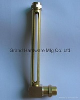 80mm Brass oil level gauge with real glass tube