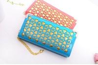 Free shipping On Sale New Arrived 2014 Michaeled Wallets Women Leather Wallets Luxury Ladies PU Zipper Purse Handbag