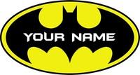 batman logo wall sticker car decal decor personalized boy name poster superhero batman avengers decoration