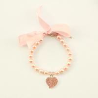 dreambows Handmade Dogs Cats Cute Ribbon Bow Rhinestone Heart Pendant Necklace #dn1007 Puppy Fashion Popular Jewelry