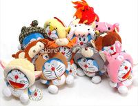 12 pcs 18CM 7'' Cute 12 zodiac cartoon doll plush toy Doll Stuffed Animals Baby Toy for Children Gifts Wedding Gifts toys