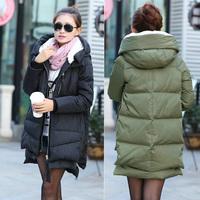 2014 Winter Brand Womens Duck Down&Parkas Fashion Winter Jacket Women Outwear Plus Size XXS-XXL