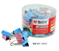 Stationery Supply, documentation clip, colorful clip, 25mm dovetail clamp, ABS91609 , 12pcs, free shipping
