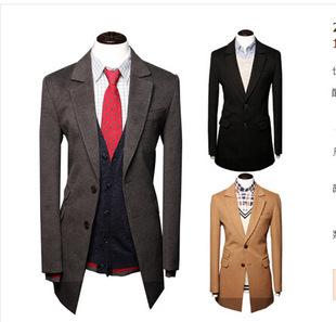 Nz063 free shopping 2014 News Men Trench Turn-down Collar Slim Winter Warm Long Jackets Outwear Overcoat black grey khaki Coat(China (Mainland))