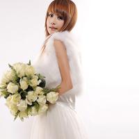 2012 wedding fur vest wedding dress outerwear fox fur vest