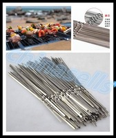 29cm long BBQ stainless steel barbecue grill needle flat needle grilled lamb skewers grill prod BBQ tool