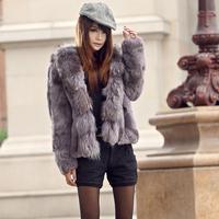 High quality ultralarge raccoon rabbit fur rabbit fur outerwear