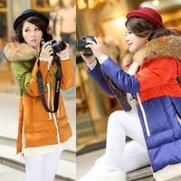 Plus Size Down & Parkas Winter Coat Women Fur Down Jackets Women Outerwear Winter Jacket Women Jaqueta Feminina Parka New 2014