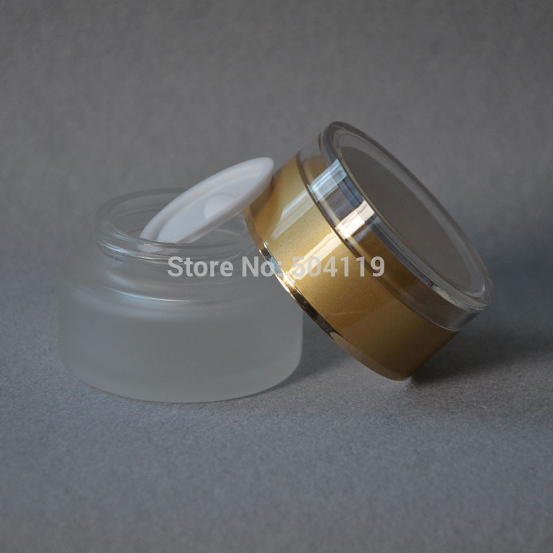 30g frosted glass cream jar,cosmetic container,,cream jar,Cosmetic Packaging,glass bottle(China (Mainland))