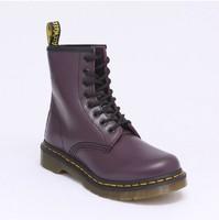 Free Shipping Dr. Original Martins 1460 Purple Genuine Leather Women Men Shoes Marten  Boots SIZE 35-45