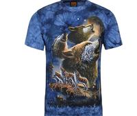 Men Women 3D Skull ethnic Animal hamburger Space Galaxy Round Top Tee T shirt