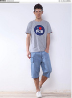 2014 new Summer fashion classic  draping big size  thin loosen men trousers full cotton  baggy shorts jeans JA725