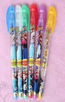 "Free shipping 20 Box/ 120 Pcs )  6 colors ""metallic glitter + fruit scent "" ink Frozen blink pen pencil ballpoint pens"