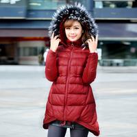 2014 Winter elegant plus size down cotton-padded jacket ,thick women outdoor jacket,snow wear,outwear coat