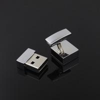 Cufflinks Square Promotional Mini Metal USB Stick USB Flash Drive gift usb free laser logo--free shipping