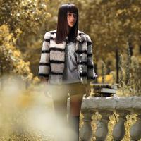2013 autumn and winter fur coat female short design elegant casual rabbit hair fur