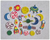 Free shipping Printed EVA Foam Shaped with self adhesive for kids DIY creative craftwork - 30pcs/lot LB0010C