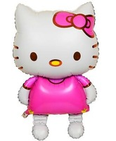 "48"" Large Size Walking Hello Kitty Foil Balloons Baby Girls Toys Birthday Party Decoration"