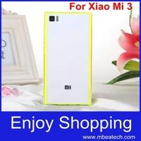 wholesale free shipping 1pcs acrylic Transparent Gel Anti-skid dustproof plug phone case cover for Xiaomi Mi3 M3