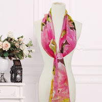 2014 women's summer silk imitation scarf design long chiffon scarf female autumn and winter scarf cape