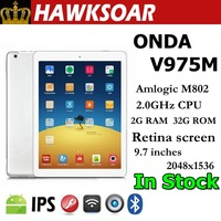 ONDA V975M Tablet 9.7 inches Multilanguage Quad-core CPU Android 4.2  Double camera Ultra Slim white Tablet