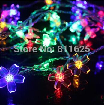 10 м из светодиодов кристалл вишни веревка строка фары рождественские огни гарланд ...