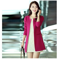 2014 Autumn and winter trench fashion slim medium-long plus size clothing style trench outerwear Women