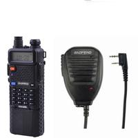 radio walkie talkie baofeng uv-5r,fm radio dual band UHF VHF,with 3800mAh Li-ion battery built-in+baofeng original speaker Mic