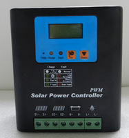 PWM 36V 60A Solar Charge Controller,Connect 2160w Solar Panel,Solar Dual input,LCD Display,Aluminum shell,Good Heat Dissipation