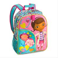Free Shipping  2014 New Arrival Doc McStuffins Children Cartoon School Bags For Girls Knapsack Kids Backpack