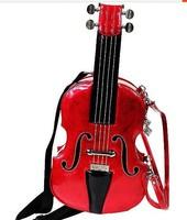 free shipping guitar styling shoulder bags,new design handbags,Violin handbags,Street style