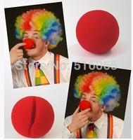 50 Pcs /lot RED Foam Circus Clown Nose Comic Party Halloween Costume Magic Dress