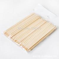 10Sets/lot 100Pcs/Set  Pedicure Manicure Tool Nail Art Orange Wood Stick Cuticle Pusher Remover