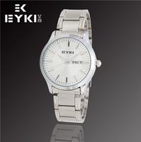 EYKI Brand New Fashion Luxury Men Watches, Automatic Date, Stainless Steel Japanese Quartz Movement Watch, Free Shipping