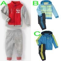 Retail children's shampooers jogging tracksuits sport set hooded coat+pants kids baby boys Spring Autumn cartoon clothes Suit