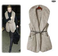 2014 new winter Women vest casual sleeveless with hood coat maomao vest coat