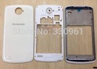 Original For Lenovo s920 full  Housing Cover Front Bezel Frame+Middle Plate+ Back Door Cover  White Color , Free Shipping