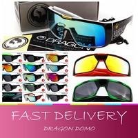 Free shipping, 2014 New Fashion Dragon Domo sunglasses glasses for men/women with original box, Sports sol bike cycling goggles