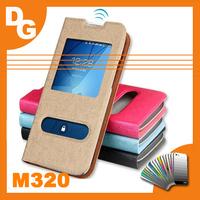 2014 Window  PU Leather Flip Case For InFocus M320 M320U MTK6592 Octa Core Android Smartphone