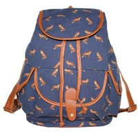 2014 new women school backpack fashion high quality bird and the fox type free shipping women school bags mochila