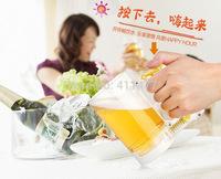 Free Shipping Frothing Beer Drinking Mug,Beer Former Mug Sparkling Beer Mug