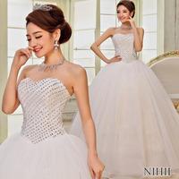 Custom Made Plus Size Lace Wedding Dress Romantic Sweetheart Off Shoulder Vestido De Noiva 2014 Bride Dress Vintage Ball Gown