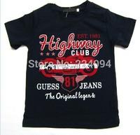 Freeshipping2014 fashion boys o-neck t- shirt  100% cotton kid's o-neck t-shirt kid's short t-shirt  1-7 years old 4 colors