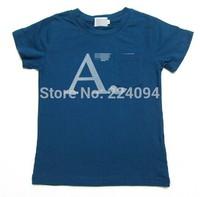 Freeshipping2014fashion boys t shirt  100% cotton kid's t-shirt fashion kid's short t-shirt  1-7 years old 3 colors