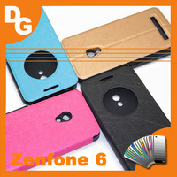 2014 Window Flash Lines PU Leather Flip Case For ASUS Zenfone 6 1280x720P 6.0 inch Smarthone