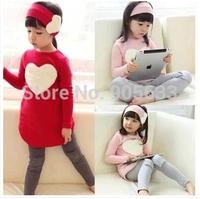 wholesale Autumn spring children clothing sets baby girls 3pcs suits kids ( headband + coat + pants ) children outerwear clothes