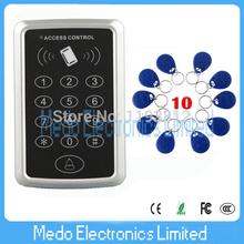 Sistema de envío libre etiqueta RFID + 10 NUEVO proximidad RFID Door Control de acceso RFID / EM Teclado de control de acceso Puerta de cochera(China (Mainland))