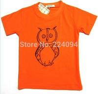 Freeshipping2014 fashion brand boys o-neck t- shirt 100% cotton kid's o-neck t-shirt kid's short t-shirt  1-7 years old 6 colors