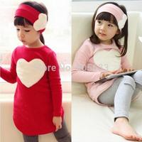 Autumn spring children clothing sets fashion baby girls 3pcs suits kids ( headband + coat + pants ) children outerwear clothes