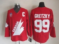 1991 year C A N A D A #99 Wayne Gretzky CCM red jerseys, please read size chart before order